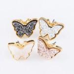 Wholesale butterfly Druzy Stud Earrings