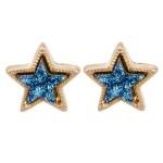 Wholesale druzy Star Stud Earrings Gold mm
