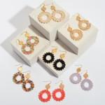 Wholesale beaded Ring Drop Earrings Gold