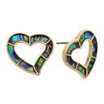 Wholesale genuine Abalone Heart Stud Earrings