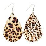 Wholesale leopard Print Teardrop Earrings
