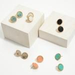 Wholesale semi Precious Button Stud Earrings Diameter