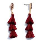 Wholesale druzy Lightning Bolt Tassel Earrings