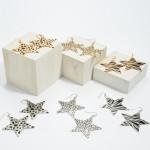 Wholesale shimmery Metal Animal Print Star Drop Earrings