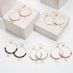 Wholesale rubber Beaded Star Drop Earrings