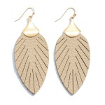 Wholesale faux Leather Feather Drop Earrings