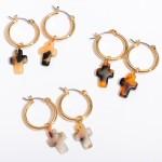 Wholesale acrylic Cross Hoop Earrings Gold Hoop Diameter