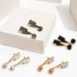 Wholesale lightning Bolt Druzy Drop Earrings