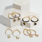 Wholesale beaded Texas State Druzy Drop Earrings