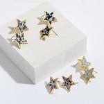 Wholesale rhinestone Star Stud Earrings