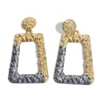 Wholesale crinkled Gold Statement Earrings Color Coat Accent