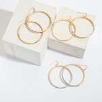Wholesale metal Ring Drop Earrings