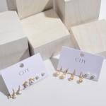Wholesale pC Ivory Pearl Stud Earrings Set PC Per Set mm