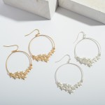 Wholesale round Shimmer Star Drop Earrings