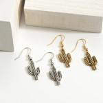 Wholesale metal Cactus Drop Earrings