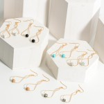 Wholesale corkscrew Drop Earrings Natural Stone Accents Long