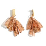 Wholesale gold Resin Tassel Drop Earrings