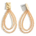 Wholesale beaded Tear Drop Earrings Hammered Gold Accents