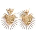 Wholesale gold Heart Drop Earrings Diameter