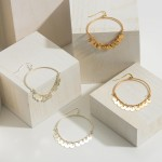 Wholesale circular Drop Earrings Metal Bead Accents