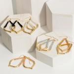 Wholesale gold Teardrop Earrings Beaded Accents