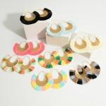 Wholesale gold Threader Earrings Cubic Zirconia Details Raffia Accents Diameter
