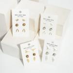 Wholesale set Three Pairs Western Stud Earrings Cow Skull Studs Long Rhinestone