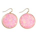 Wholesale round Sparkly Star Drop Earrings Long