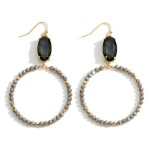 Wholesale beaded Drop Earring Crystal Accents Long