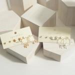 Wholesale set Three Star Earrings CZ Accents CZ Studs cm Diameter Star Studs cm