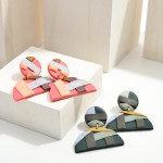 Wholesale polymer Clay Drop Earrings Abstract Print