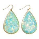 Wholesale teardrop Earrings Reflective Stars Long