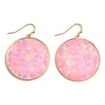 Wholesale circle Drop Earrings Reflective Stars Long