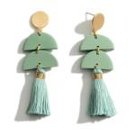 Wholesale polymer Clay Earrings Fringe Tassels