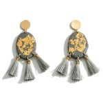 Wholesale clay Polymer Earrings Gold Accents Fringe Tassels