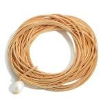 Wholesale set Twenty Five Spring Wire Elastic Bracelets Faux Pearl Accent Diamet