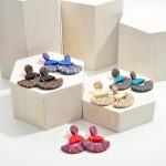 Wholesale geometric Polymer Clay Drop Earrings