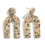 Wholesale abstract Print Polymer Clay Rainbow Drop Earrings Gold Accents
