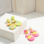 Wholesale geometric Clay Polymer Drop Earrings