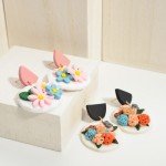 Wholesale polymer Clay Drop Earrings Floral Accents