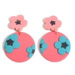 Wholesale clay Polymer Flower Drop Earrings