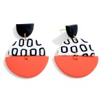 Wholesale polymer Clay Drop Earrings Multicolor Accents