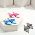 Wholesale diamond Polymer Clay Drop Earrings