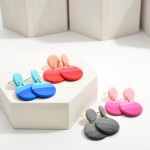 Wholesale circular Polymer Clay Drop Earrings