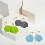 Wholesale clay Polymer Rainbow Drop Earrings