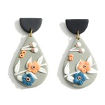 Wholesale polymer Clay Drop Earrings Flower Accents