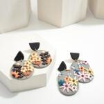 Wholesale multicolor Polymer Clay Drop Earrings Flowers