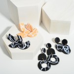 Wholesale clay Polymer Drop Earrings Abstract Pattern