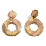 Wholesale circular Polymer Clay Drop Earrings Gold Metallic Accents