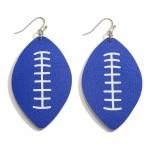 Wholesale faux Leather Football Earrings Long
